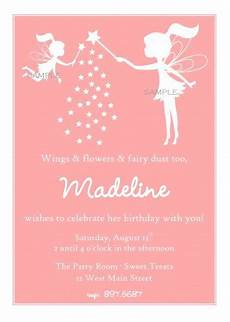 Fairy Party Invitation Wording Fairy With Pixie Dust Silhouette Birthday Party Invitation