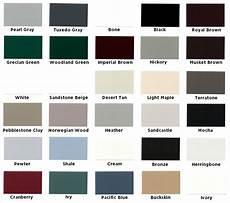 Wrisco Aluminum Color Chart Quality Aluminum Gutter Colors Columbus Gutter