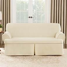 sure fit cotton duck sofa t cushion slipcover reviews