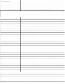 Free Notes Template Standard Cornell Notes Template Free Download