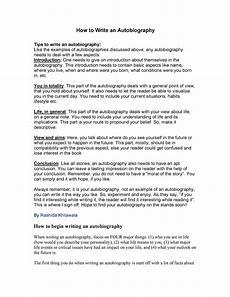 How To Write A Autobiography Essay 40 Autobiography Examples Autobiographical Essay