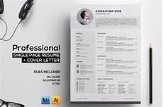 Professional Creative Resume Professional Single Page Resume Resume Templates On