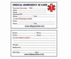 Medical Alert Cards Templates 8 Best Images Of Free Printable Medical Cards Free