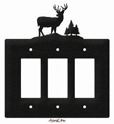 Deer Light Switch Covers Swen Products Deer Buck Wildlife Light Switch Plate Covers