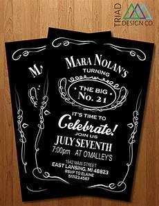 21 Bday Invites Printable Invitation 21st Birthday From Triad Design Co