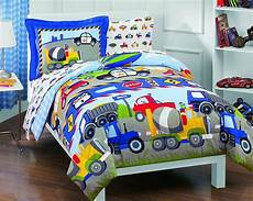 size baby comforter trucks and tractors 5pc boy