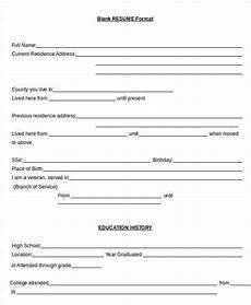 Blank Resume Template Word Resume In Word Template 24 Free Word Pdf Documents