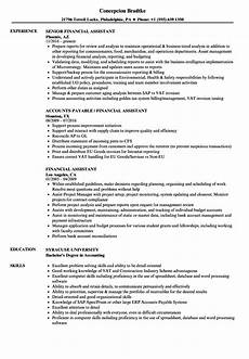 Finance Assistant Cv Financial Assistant Resume Samples Velvet Jobs
