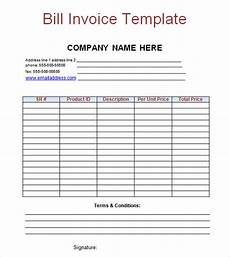 Bill Invoice Template Word Free 13 Billing Invoice Samples In Google Docs Google