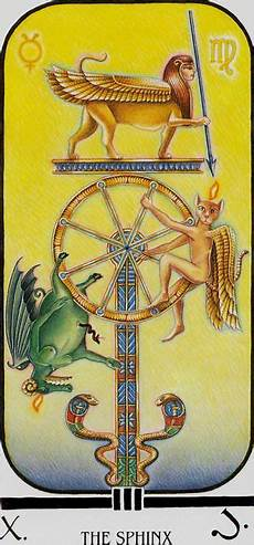 Brotherhood Of Light Egyptian Tarot Meanings The Sphinx Wheel Of Fortune Ibis Tarot Ibis Tarot