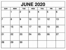 June 2020 Calendar Free June 2020 Calendar Printable On We Heart It