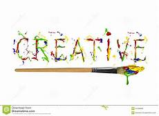 Word For Creative Colorful Paint Painted Word Creative Stock Illustration