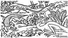 krokodil mit dinosauriern ausmalbild malvorlage tiere