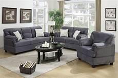 grey wood sofa loveseat and chair set a sofa