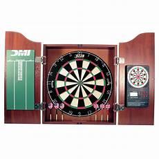 dmi 5 dartboard cabinet set with electronic scorer