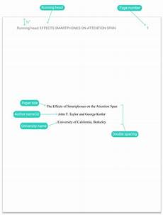 Cover Title Apa Title Page Cover Page Guidelines Example Template