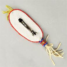 barrette beaded feather wandering bull american shop