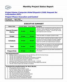 Monthly Status Report Template 13 Free Status Report Templates Ms Word Excel Amp Pdf