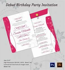 Debut Invitation Ideas Debut Invitation Template 26 Free Word Pdf Psd Format