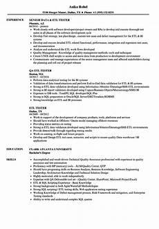 Etl Testing Resume Etl Tester Resume Samples Velvet Jobs