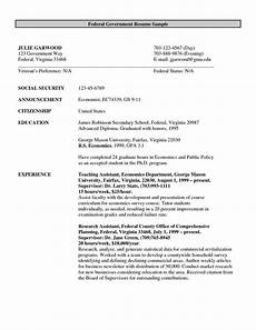 Resume Samples For Government Jobs Format Of Federal Government Resume Http Www