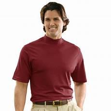 monterey club mens swing sleeve solid mock neck