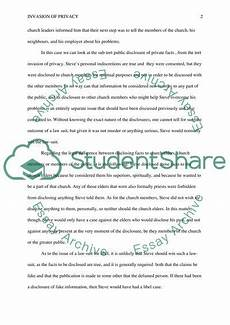 Essays On Privacy Invasion Of Privacy Essay Example Topics And Well