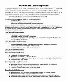 How To Word A Resume Objective Free 9 Resume Objective Samples In Pdf Ms Word