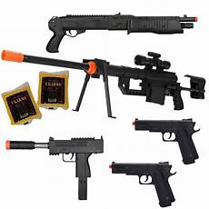shop 4 airsoft 5 gun package p1200 sniper shotgun 2