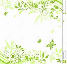 Green Border Design Floral Green Border Stock Illustration Illustration Of