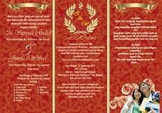 desain undangan pernikahan lipat 3 kata kata mutiara
