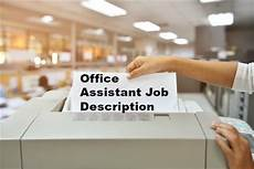 Office Job Description Office Assistant Job Description