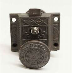 antique aesthetic cast iron cabinet latch with lock olde