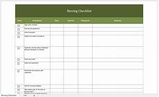 Relocation Checklist Excel Free Moving Checklist
