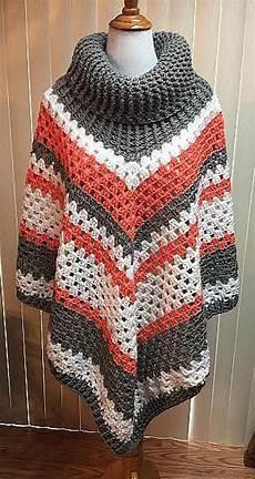 crochet poncho crochet poncho cowl neck poncho gray poncho boho poncho