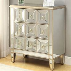mirrored accent cabinet w gold trim accent chests and