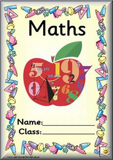 Maths Cover Page Design Classroombasics