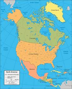 World Map Of North And South America North America Map And Satellite Image