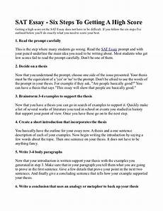 Essay Examples For Sat Sat Essay Six Steps To Getting A High Score