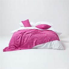 nirvana slub cotton pink throw 255 x 360 cm