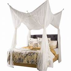 woven polyester four point bed canopy 76 x 84 x 96