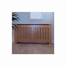 stonehouse vertical slat oak radiator cover large