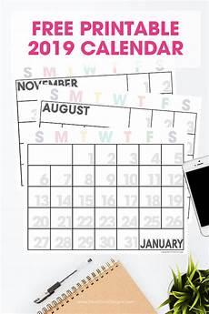 Calendars Printable 2019 Printable Calendar Free Printable Monthly Calendar