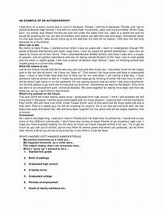 How To Write A Autobiography Essay An Example Of An Autobiography