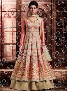 buy wedding wear banarasi silk peach designer indowestern peach n beige banarasi silk designer wedding suit lehnga