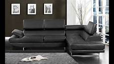 kemi modern style black bonded leather sectional sofa with