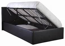 side lift ottoman storage bed frame black or brown