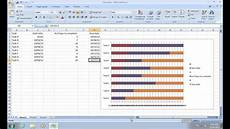 Use Excel To Create Gantt Chart How To Make Excel 2007 Gantt Chart Youtube