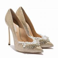 luxury designer shoes 2018 pearl bling pointed toe