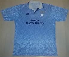 banco santo spirito camisa de jogo lazio 1991 1992 banco santo spirito umbro
